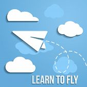Learn to fly concept