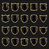 Badges - Set 3 - Black with Gold Borders