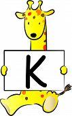 Giraffe Take the English alphabet cards