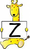 Giraffe take letter z