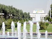 Tashkent Fountain In Front Of Turkestan Palace Of Culture 2007