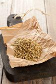Heap Of Fennel Seeds On Kitchen Board