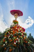 Traditional Mexican Catrina Skeleton  At The 15Th Annual Day Of The Dead Festival