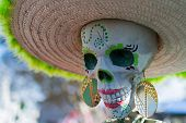 Skeleton At The 15Th Annual Day Of The Dead Festival
