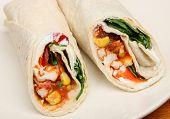 Spicy chicken wrap sandwich