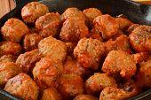Italian Meatballs Closeup
