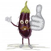 Eggplant Mustache