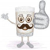 Glass Of Milk Mustache