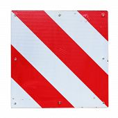 Warning Sign Red And White Background