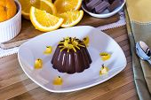 Delicious Chocolate Dessert With Orange And Cocoa