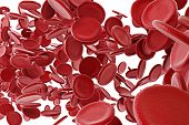 3d red blood cells
