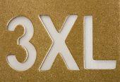 Xxxl Stencil On Cardboard Texture