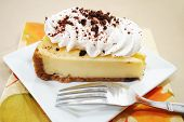Appetizing Cheesecake Served With Fall Colors
