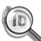 fingerprint ID through magnifying glass