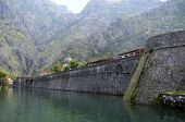 The Wall Of Old Town Of Kotor
