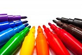 Set Of Pens In Rainbow Colors