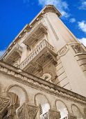 Historic building. Bari. Apulia. poster