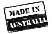 Made In Australia Plate, Illustrated With Grunge Textures