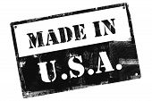 Made In Usa Plate, Illustrated With Grunge Textures