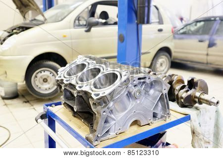 The image of cylinder block
