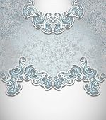 stock photo of perfume  - Template vintage background in silver blue colors for invitation or congratulation or package perfumer - JPG