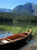 Canoe on a Lakeshore