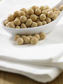 picture of soy bean  - spoon full of the soy beans - JPG