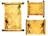 foto of anubis  - Collection of scrolls with Egyptian gods images  - JPG