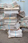 Stacks Of Newpapers On Urban Street