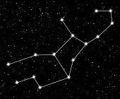 stock photo of virgo  - constellation Virgo against the starry sky - JPG