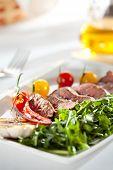 image of rocket salad  - Roast Beef with Vegetables and Rocket Salad - JPG