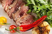 pic of rocket salad  - Roast Beef with Vegetables and Rocket Salad - JPG