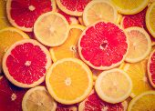 image of nostalgic  - Vintage retro effect filtered hipster style image of colorful citrus fruit  - JPG