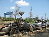 Hurricane Katrina - Lower Ninth Ward Cars