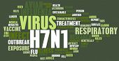 stock photo of avian flu  - H7N1 Concept as a Medical Research Topic - JPG