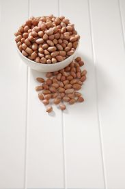 picture of ground nut  - ground nut in a white bowl - JPG