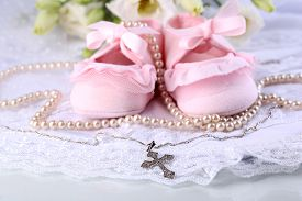 foto of christening  - Baby shoe - JPG