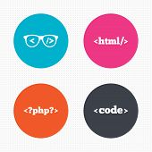 picture of programmers  - Circle buttons - JPG