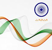 image of indian independence day  - Indian Independence Day background with  wheel flag democracy - JPG