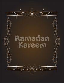 stock photo of ramadan mubarak card  - Ramadan Kareem Background card - JPG