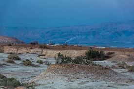 foto of dead plant  - chemical plant on the shores of Dead Sea - JPG