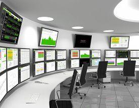 image of telecommunications equipment  - Network Operations Center  - JPG