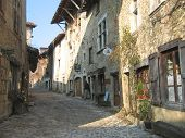 Medieval Old City Street, Perouges, France