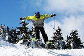 Man Ski Jump