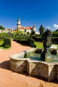 Castle of Nove Mesto nad Metuji with garden, Czech Republic