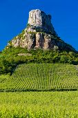 La Roche de Solute with vineyards, Burgundy, France