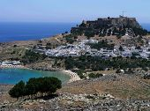Lindos Town And Beach Greece poster