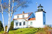 Faro luz de Fort Point, Stockton Springs, Maine, Estados Unidos