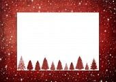 christmas frame with space for text or image