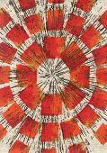 Retro Sunburst Fabric Texture